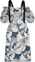 Erdem Bree Embellished Fil Coupé Dress - UK10