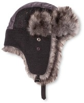 Mossimo Men's Mixed Fabric Fur Trapper Gray One Size