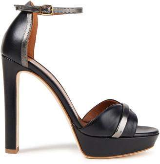 Malone Souliers Miranda 125 Metallic-trimmed Leather Platform Sandals