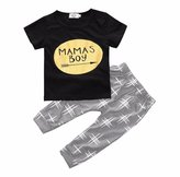 Morecome 1 Set Baby Boy Clothes T-shirt Tops and Pants (12M, )