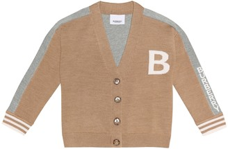 Burberry Logo merino wool cardigan