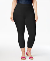 Hue Women's Plus Size Temperature Control Capri Leggings, A Macy's Exclusive