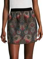 Anna Sui Women's Floral Brocade Skirt