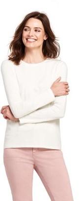 Lands' End Women's Long Sleeve Supima Crewneck T-Shirt