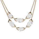 Alexis Bittar Encased Pebble Double Strand Bib Necklace