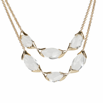 Alexis Bittar Encased Pebble Double Strand Bib Necklace