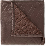 JCP HOME JCPenney HomeTM Quilted Pinsonic Faux Mink to Sherpa Throw