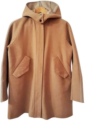 Emporio Armani Camel Wool Coat for Women