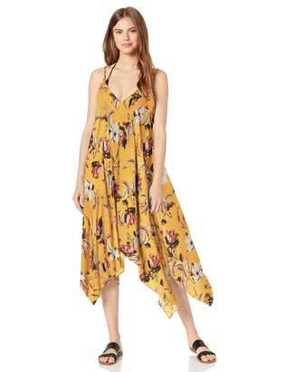 BCBGMAXAZRIA Women's Flowy V-Neck Midi Dress Cover-Up