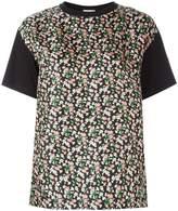 Moncler floral print front panel T-shirt