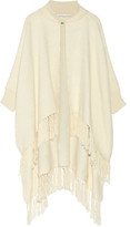 Apiece Apart Fringed Woven Cotton Poncho