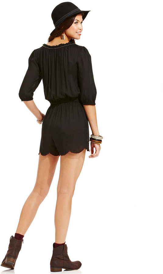 American Rag Embroidered Romper