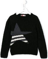 MSGM star intarsia jumper