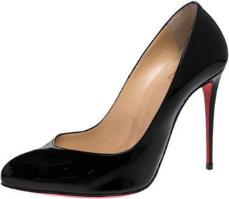 Christian Louboutin Black Patent Leather Corneille Pumps Size 37.5