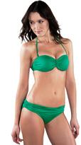 Voda Swim Emerald Shimmer Shirred Band Bottom
