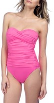LaBlanca Women's La Blanca Twist Front Bandeau One-Piece Swimsuit