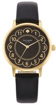 Kate Spade 'metro' Scalloped Dial Leather Strap Watch, 34mm