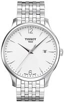 Tissot T0636101103700 Tradition Date Bracelet Strap Watch, Silver/white