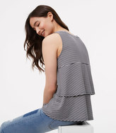 LOFT Striped Tiered Back Top