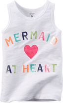 Carter's Sleeveless Mermaid Graphic Tee - Preschool Girls 4-6x