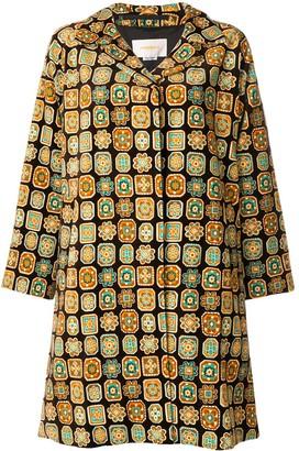 La DoubleJ Vevet Loden Piastrelle coat