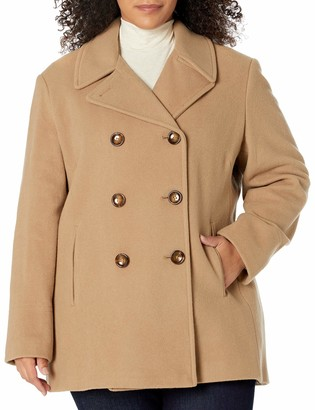 Calvin Klein Plus Size Womens Double Breasted Peacoat