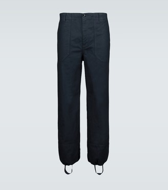 Gucci Twill cargo pants with ankle hoops
