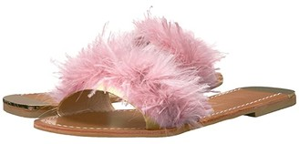 Chinese Laundry Zoey (Black Marabou Feather) Women's Dress Sandals