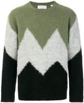 TOMORROWLAND fluffy intersia crew neck sweater