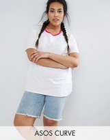 Asos T-Shirt With Tipped Detail
