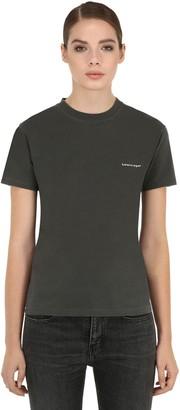 Balenciaga Slim Copyright Logo Print Jersey T-Shirt