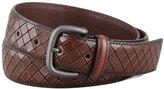 Bottega Veneta Scolpito Scored Leather Belt, Brown