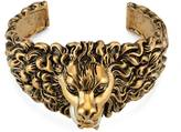 Gucci Lion head cuff bracelet in metal