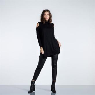 Firetrap Blackseal Cold Shoulder Knitted Dress