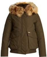Woolrich Military fur-trimmed down bomber jacket