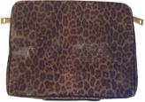 Saint Laurent Khaki Leather Clutch bag