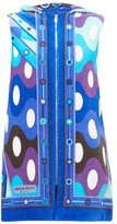 Emilio Pucci Vivara-print Cotton-terry Cover-up - Womens - Blue Multi