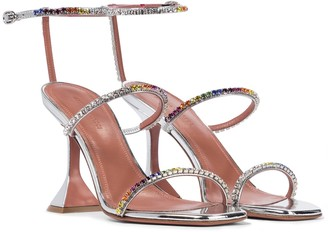 Amina Muaddi Gilda embellished leather sandals