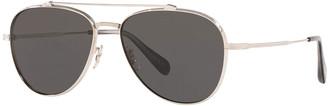 Oliver Peoples Men's Rikson Titanium Aviator Sunglasses