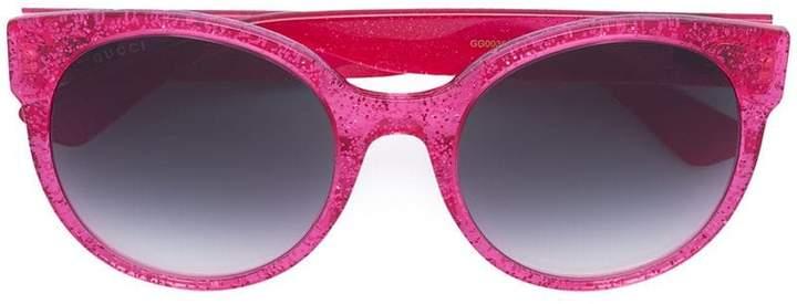 4f47a60ce3a Gucci Round Glitter Sunglasses - ShopStyle