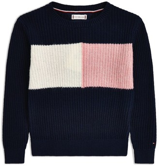 Tommy Hilfiger Junior Colour-Block Knitted Sweater