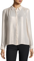 Laundry by Shelli Segal Washed-Foil Button-Down Top