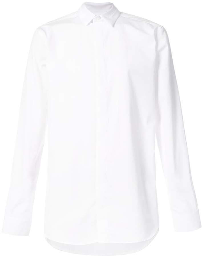 Givenchy concealed button classic shirt