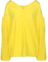 Balenciaga Swing Collar silk-blend top