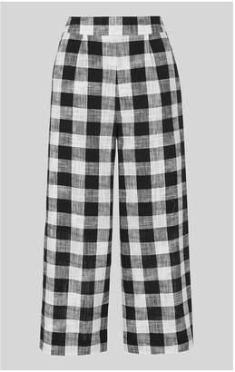 Whistles Gingham Linen Mix Trouser