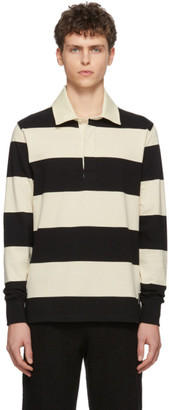 Ami Alexandre Mattiussi Black and Off-White Rugby Polo