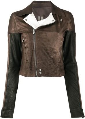 Rick Owens Metallic Biker Jacket