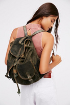 Womens WASHED CANVAS BACKPACK