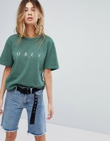 Obey Boyfriend T-Shirt With Logo Front