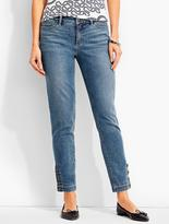 Talbots The Flawless Five-Pocket Button-Ankle Jean-Clear Sailing Wash